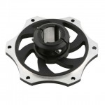 ALUMINIUM SPROCKET CARRIER FOR 30MM AXLE BLACK ANODIZED